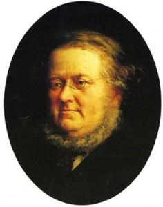 P.Chr. Asbjørnsen malt av Knud Bergslien