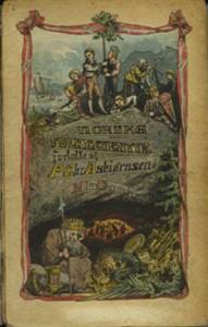 Forside til Norske Folke-Eventyr. Ny Samling. 1874. Av Marcus Grønvold.