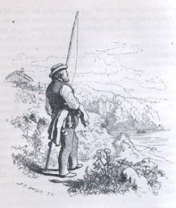 """""""Når verden går meg imot"""".. Hans Gudes illustrasjon til Kvernsagn."""