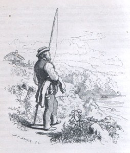 """""""Når verden går meg imot"""". Hans Gudes illustrasjon til Kvernsagn."""