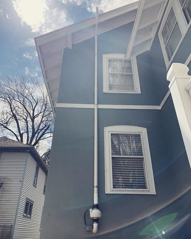 Last week we had to do a job on a nice old Grand Rapids home. Taking the beauty of this old time home into consideration. And knowing the buyers of this house would like to Preserve that. We found the perfect spot for placement on the back side of the home. We can do anything and make it look good. #radonawareness #radonisreal #lungcanserawareness #getyourhometestedforradon