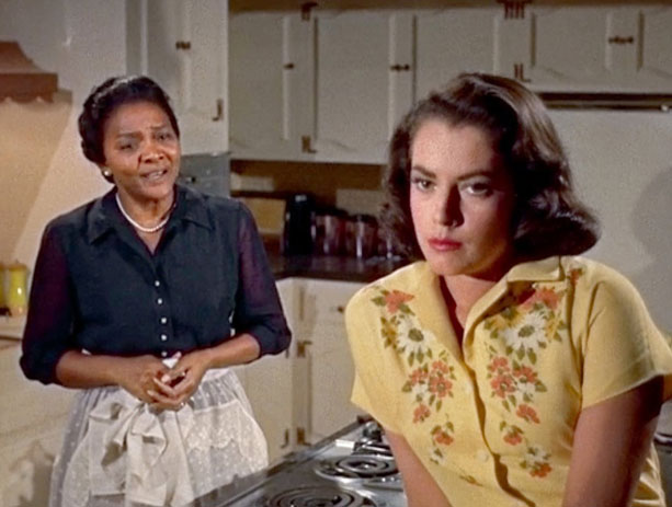 mrs. johnson pictured with her white-passing daughter, Sarah jane, in  imitation of life