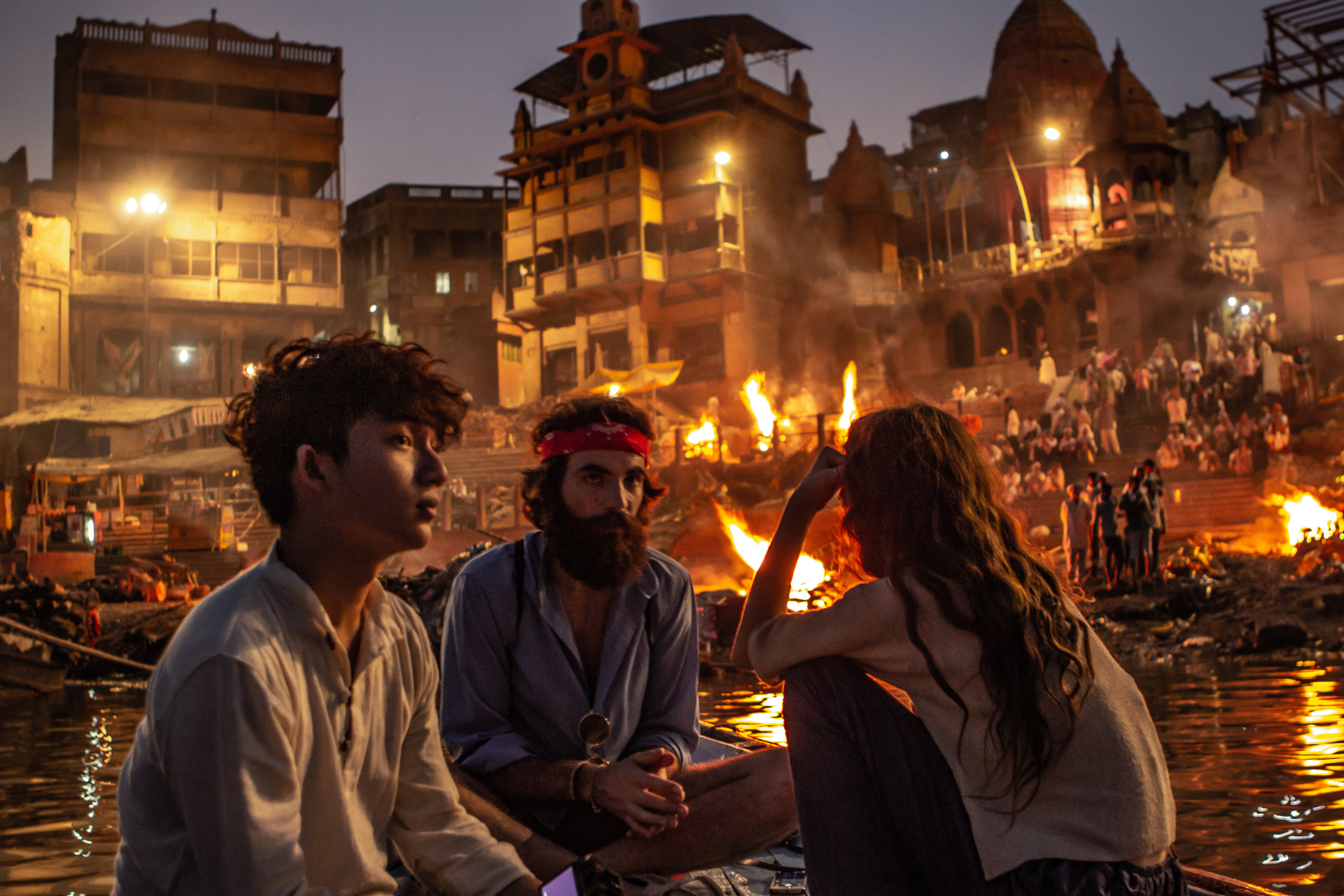 Sanctified Ceremony:   Smoke billows into the sky throughout the day. By nightfall, the flames burn brighter than any city lights. A ceremony that seems foreign to the uninitiated lasts until the wee hours of the mourning.