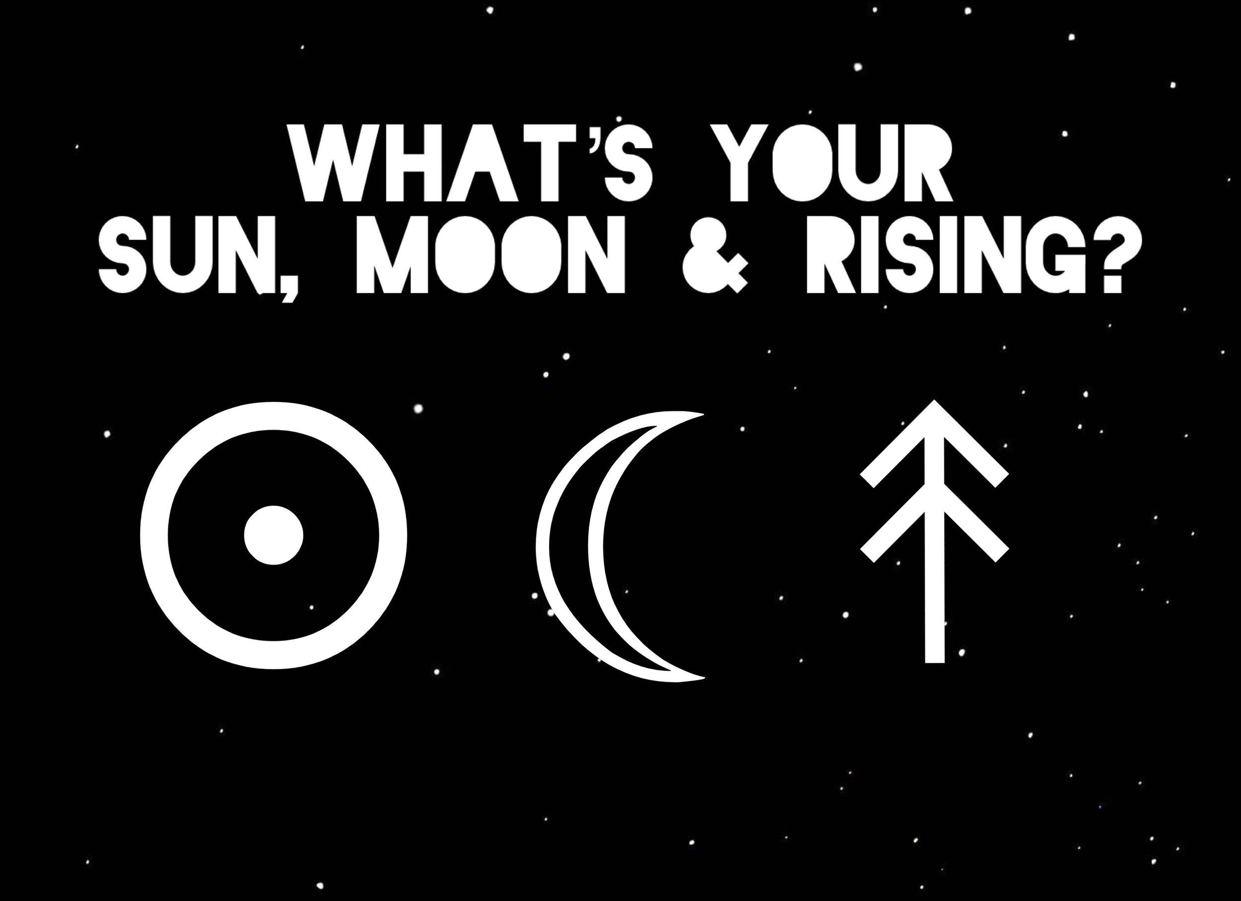 Sun moon rising