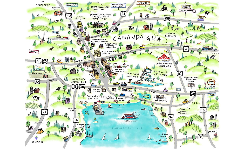 Canandaigua Map