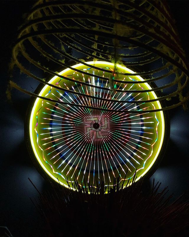 Neon wheel of fortune 💫 #neon #swastika  #incenseburner