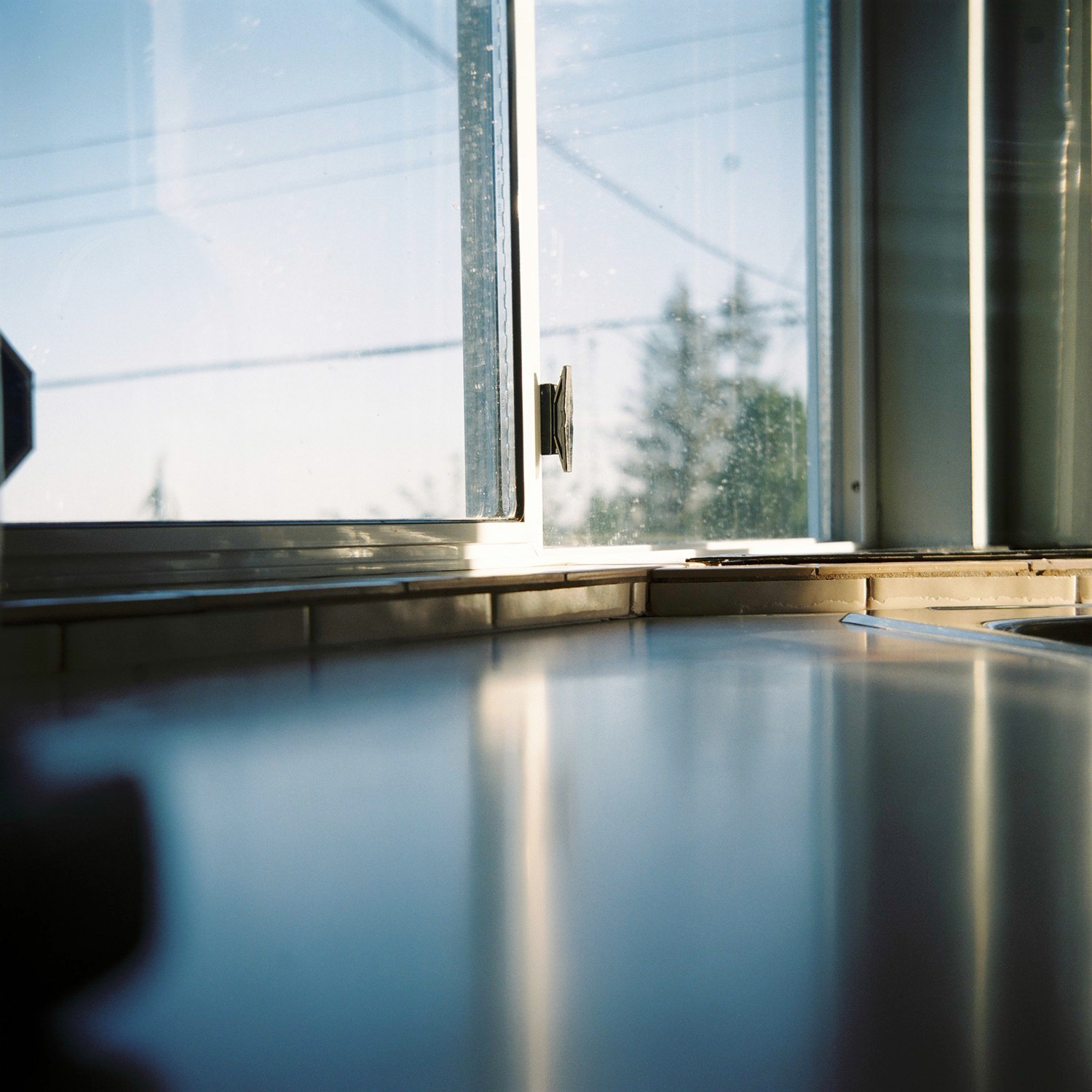 Kitchen counter reflection, North Vancouver © Tanya Clarke 2018