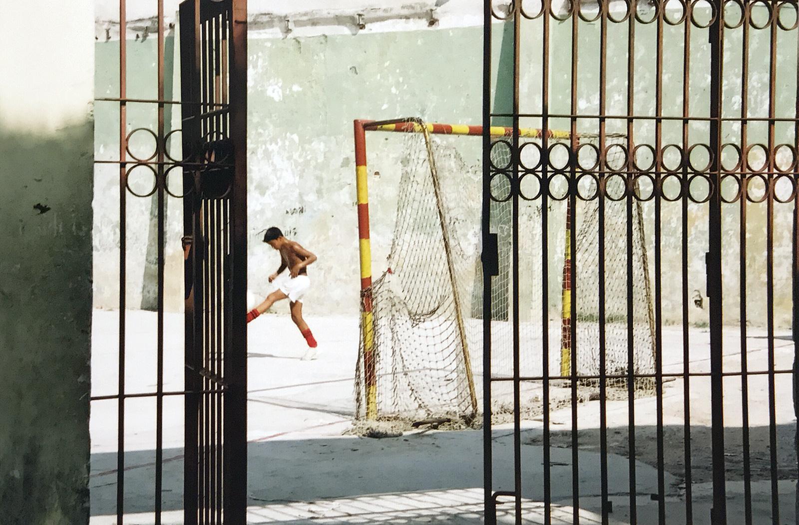 A lone footballer in Havana, Cuba 2000 © Tanya Clarke