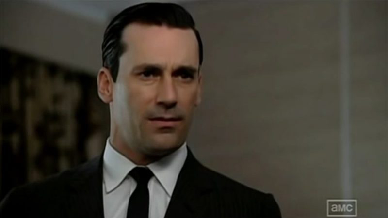 Don Draper in pitch mode - US TV show Mad Men