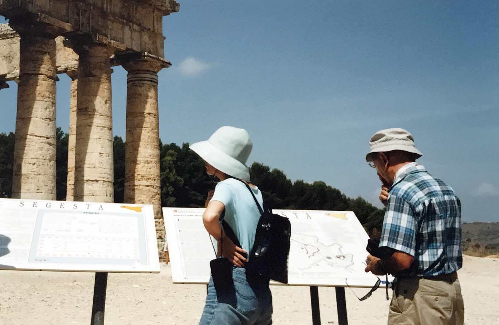 At the ruins in Segesta, Sicily, 2002. Photograph by Tanya Clarke