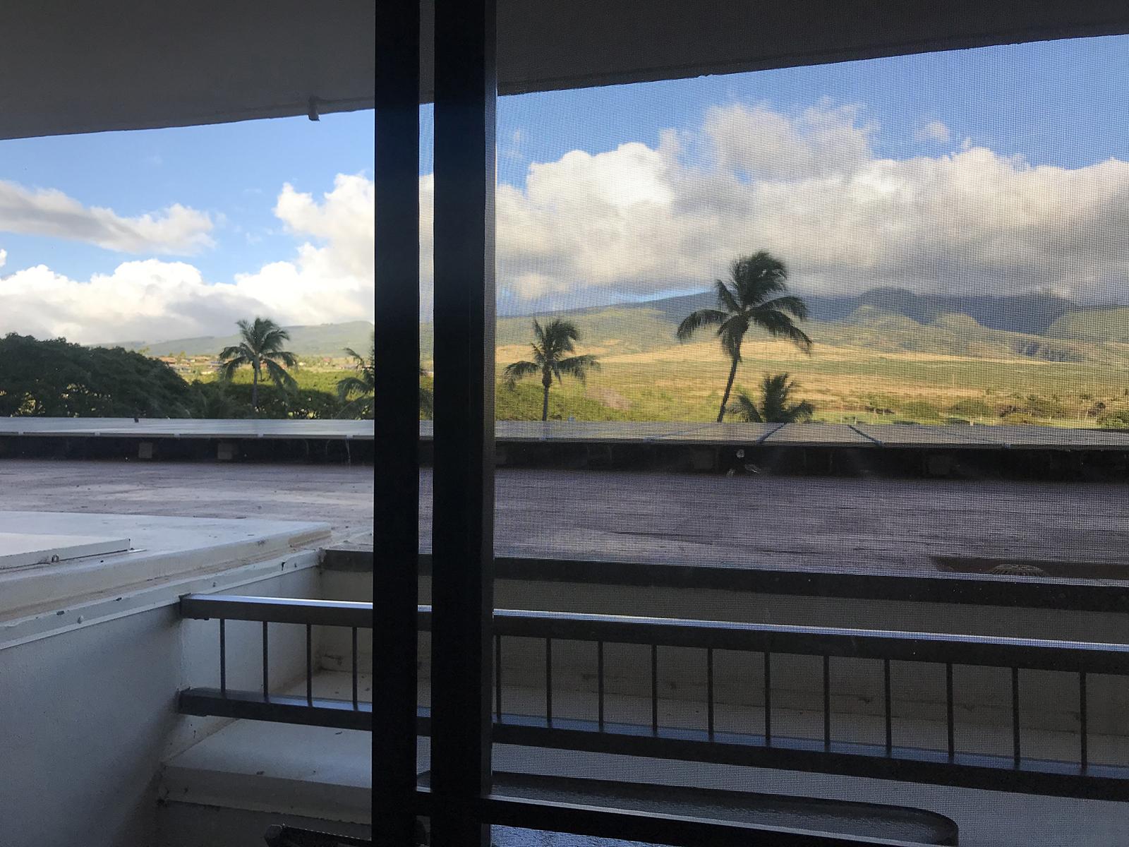 Hotel balcony, Maui, Hawaii 2019