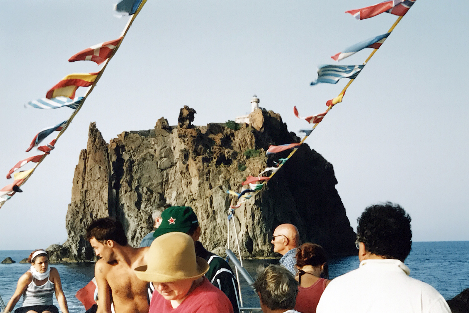 On a boat in Sicily, 2002
