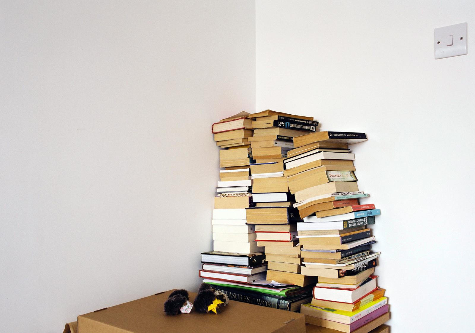 No shelf for the books, Brighton UK