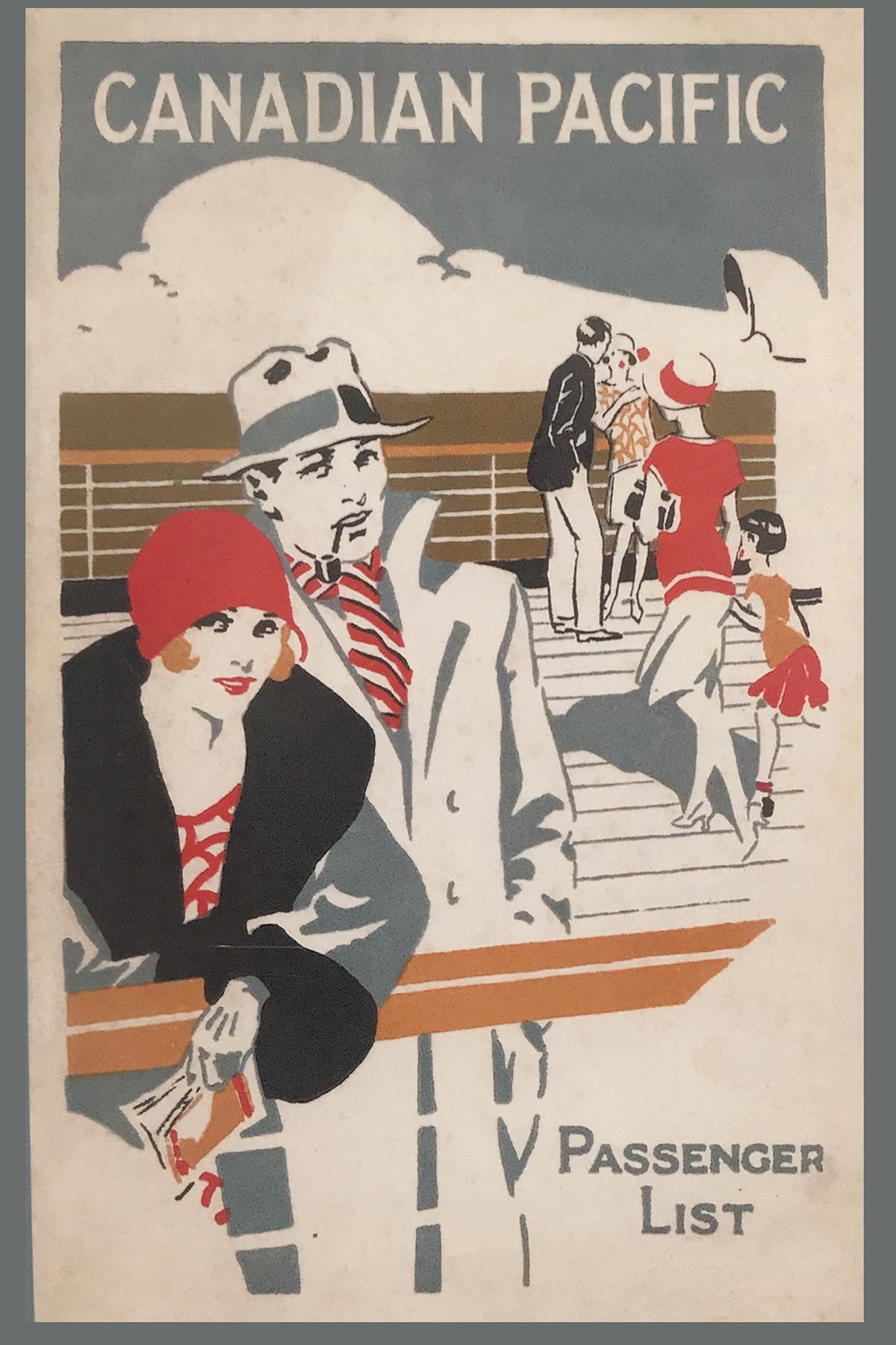 Canadian Pacific passenger list 1929 (booklet) - postcard