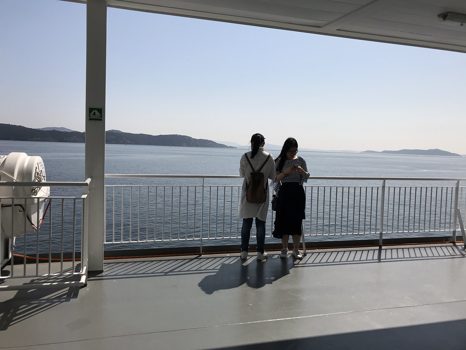 On the ferry across to Vancouver island
