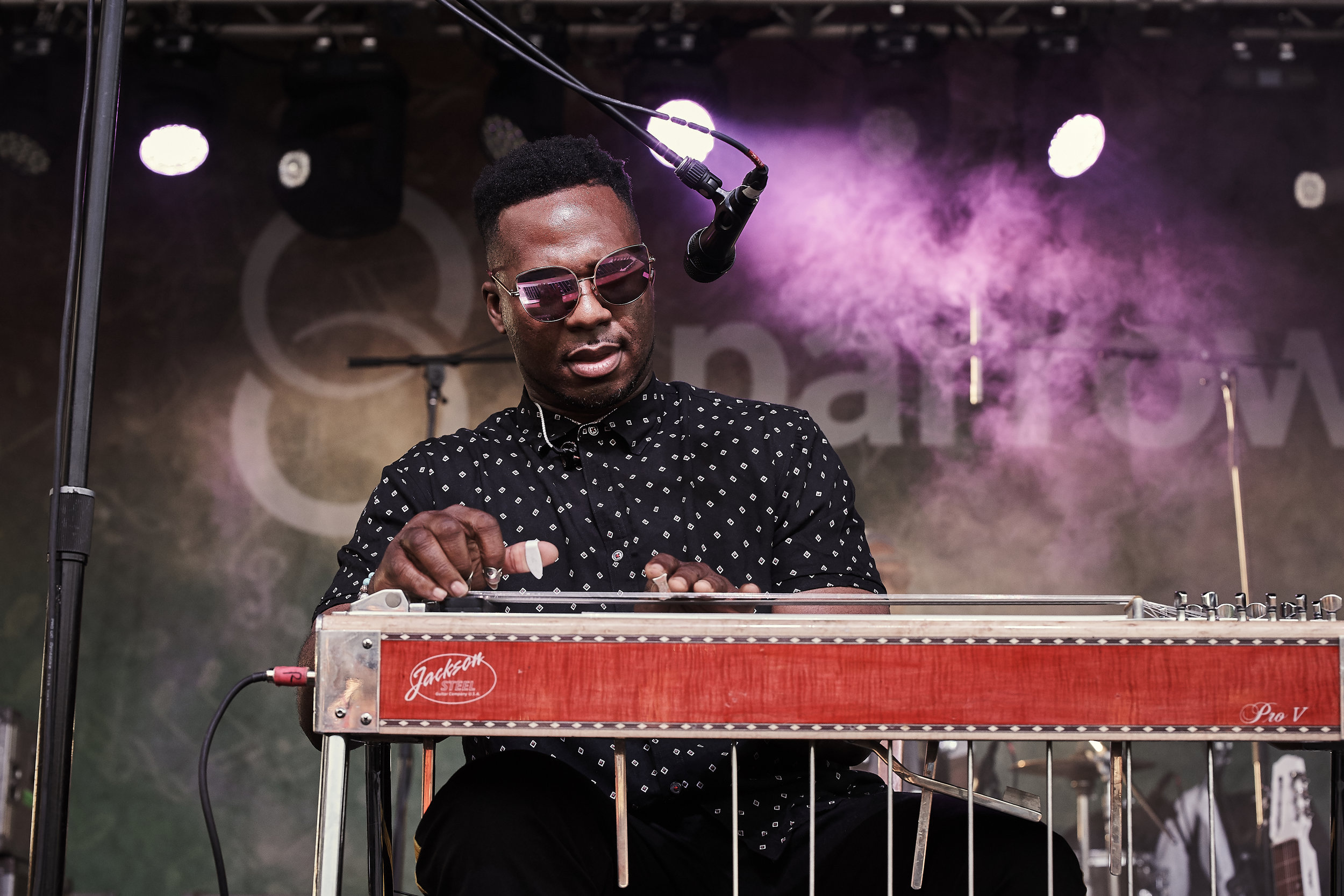 Robert Randolph    and the Family Band  // 2019-06-27 //   Common Ground Music Festival     at    Adado Riverfront Park  - Lansing, MI // Photos by  Attila Hardy