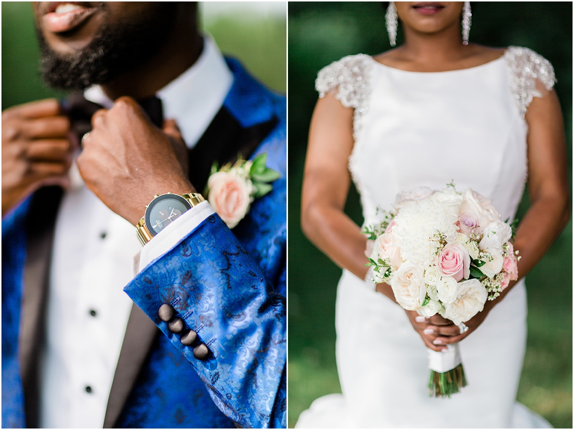 bride and groom detail shots