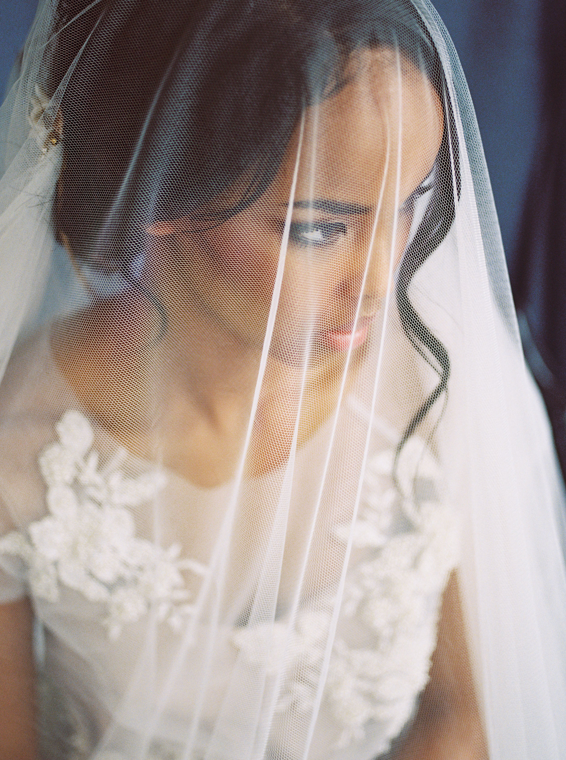 beautiful african american bride with veil