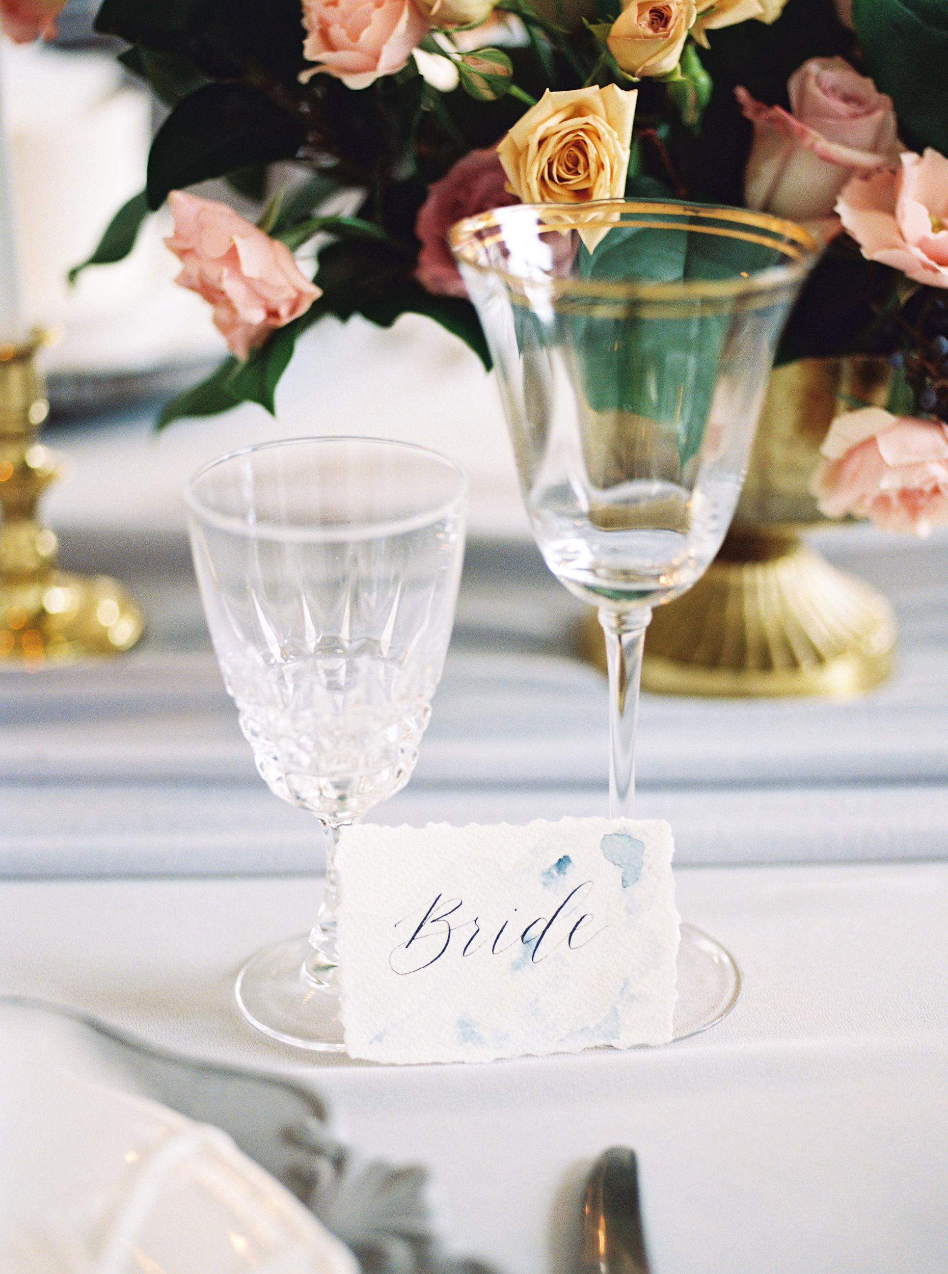 bride wedding place setting