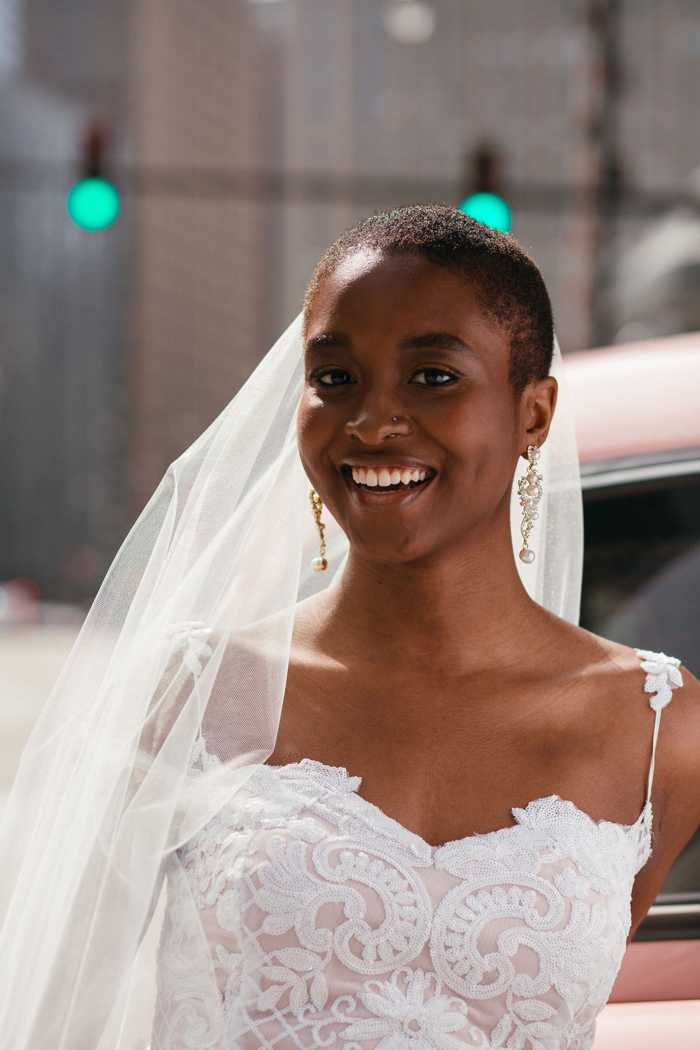 black bride with beautiful gown