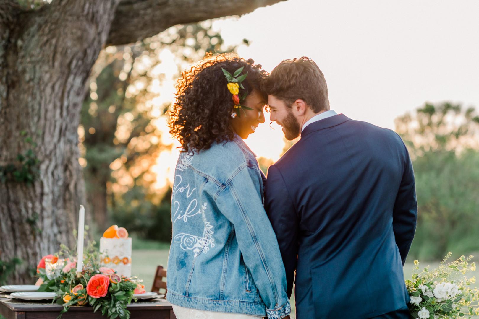 sunset wedding image