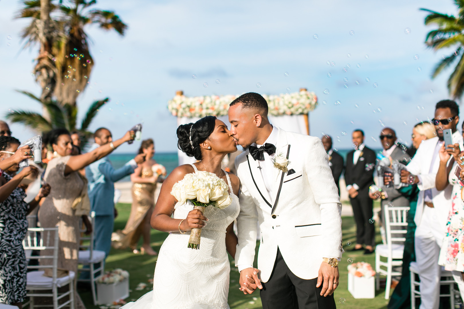 african american beach wedding