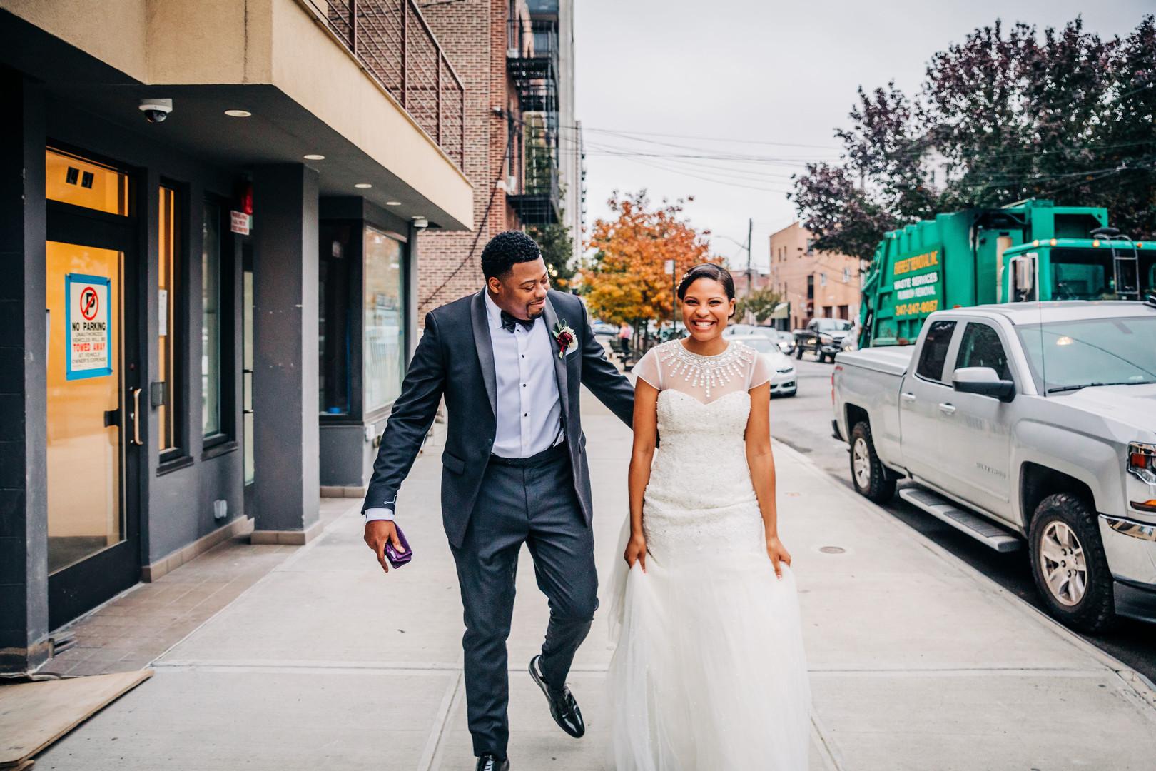bride and groom post wedding