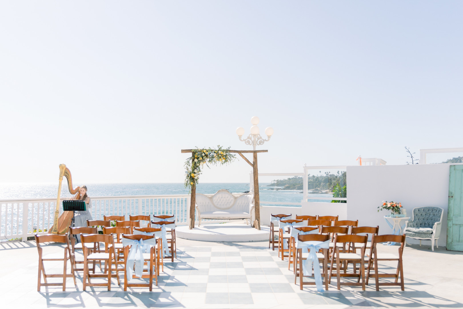 beach rooftop wedding