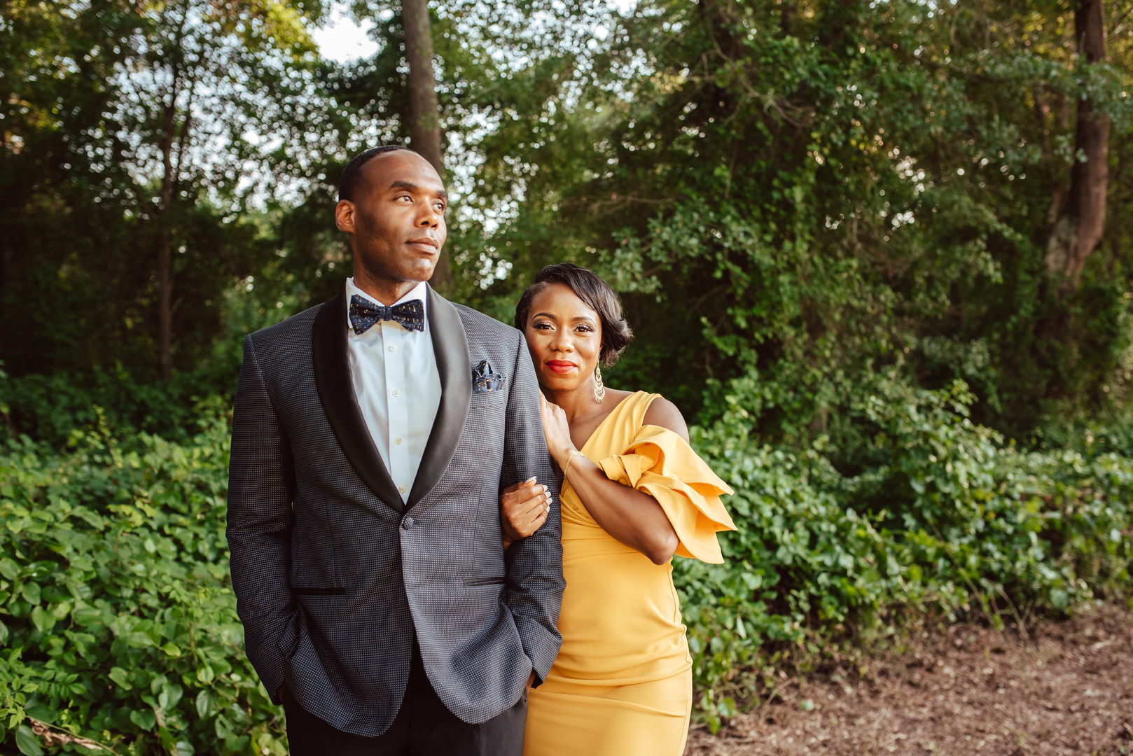 black couple beautiful engagement