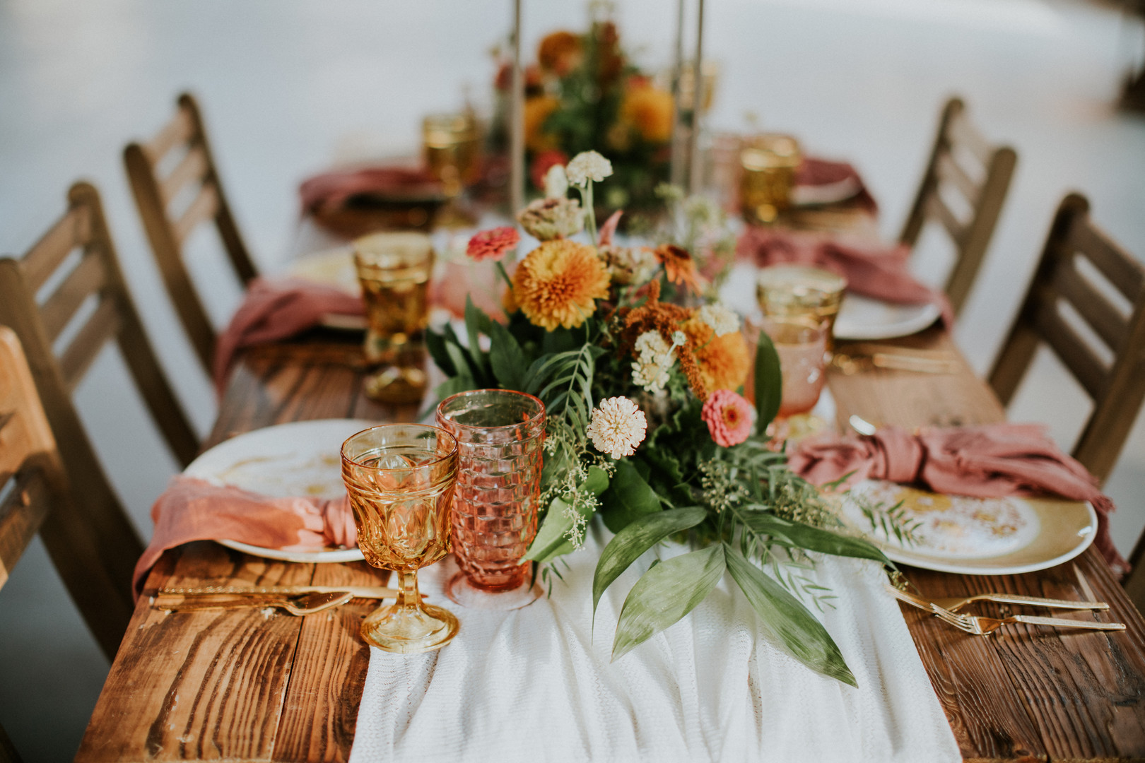 fall color wedding design