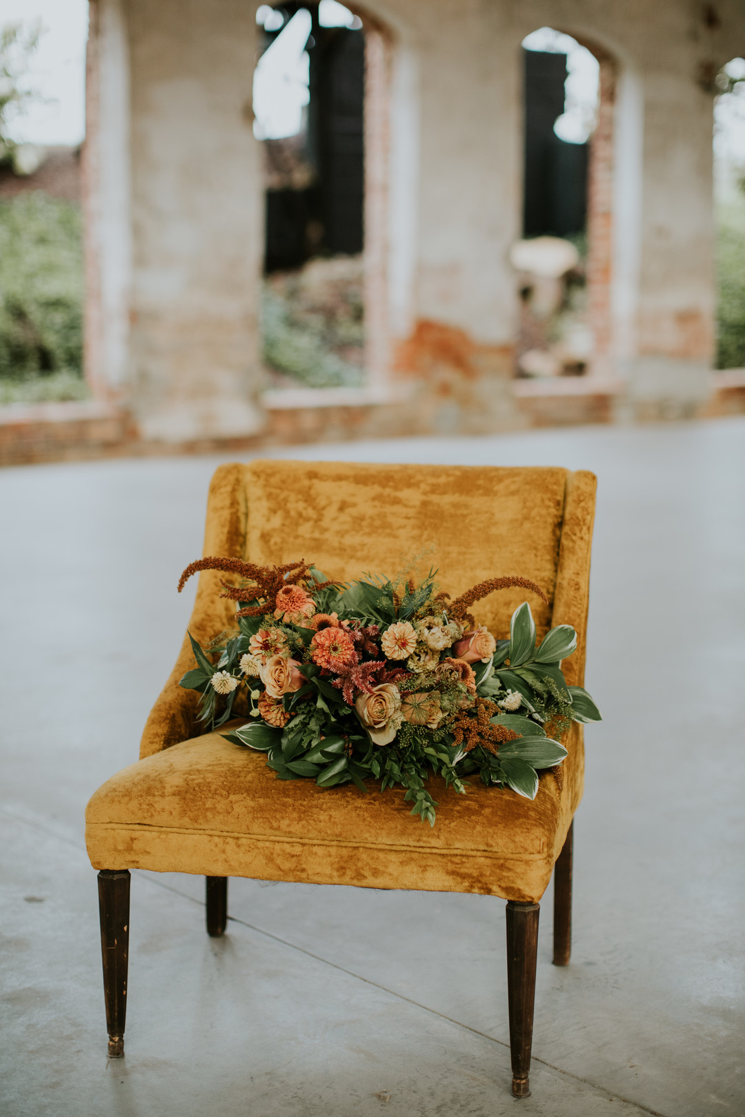 orange and rust bouquet