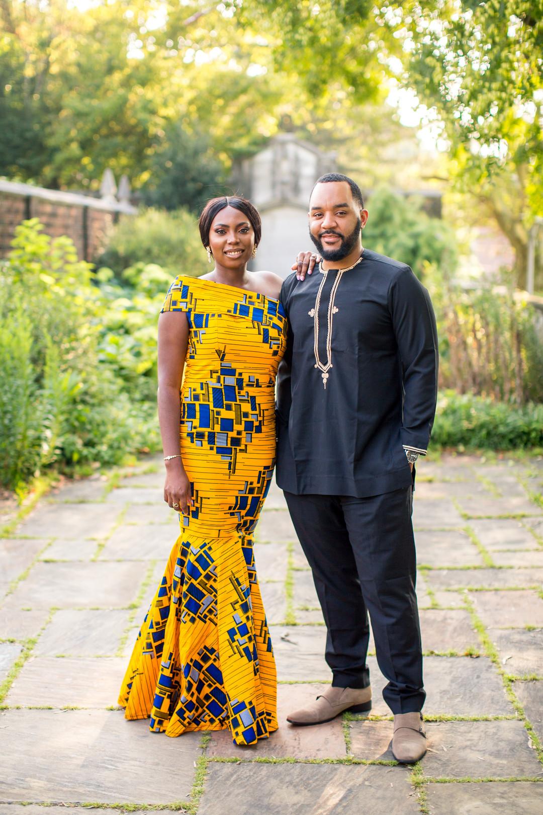 black bride in african dress