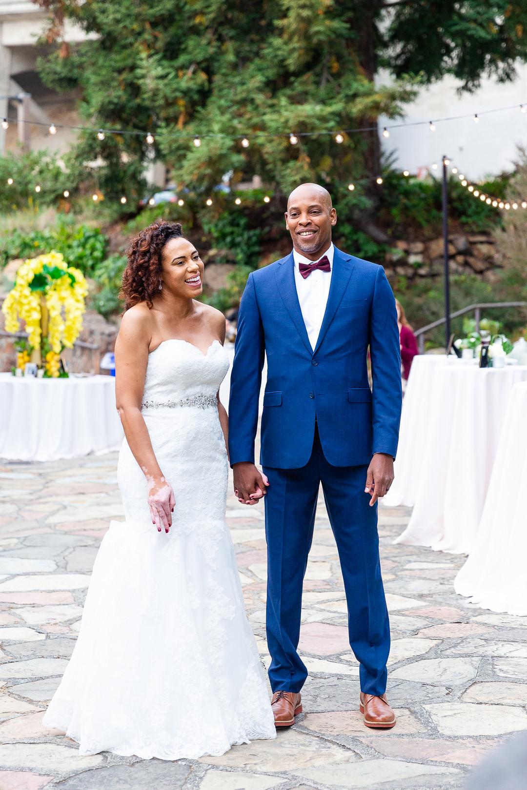 african american bride and groom.