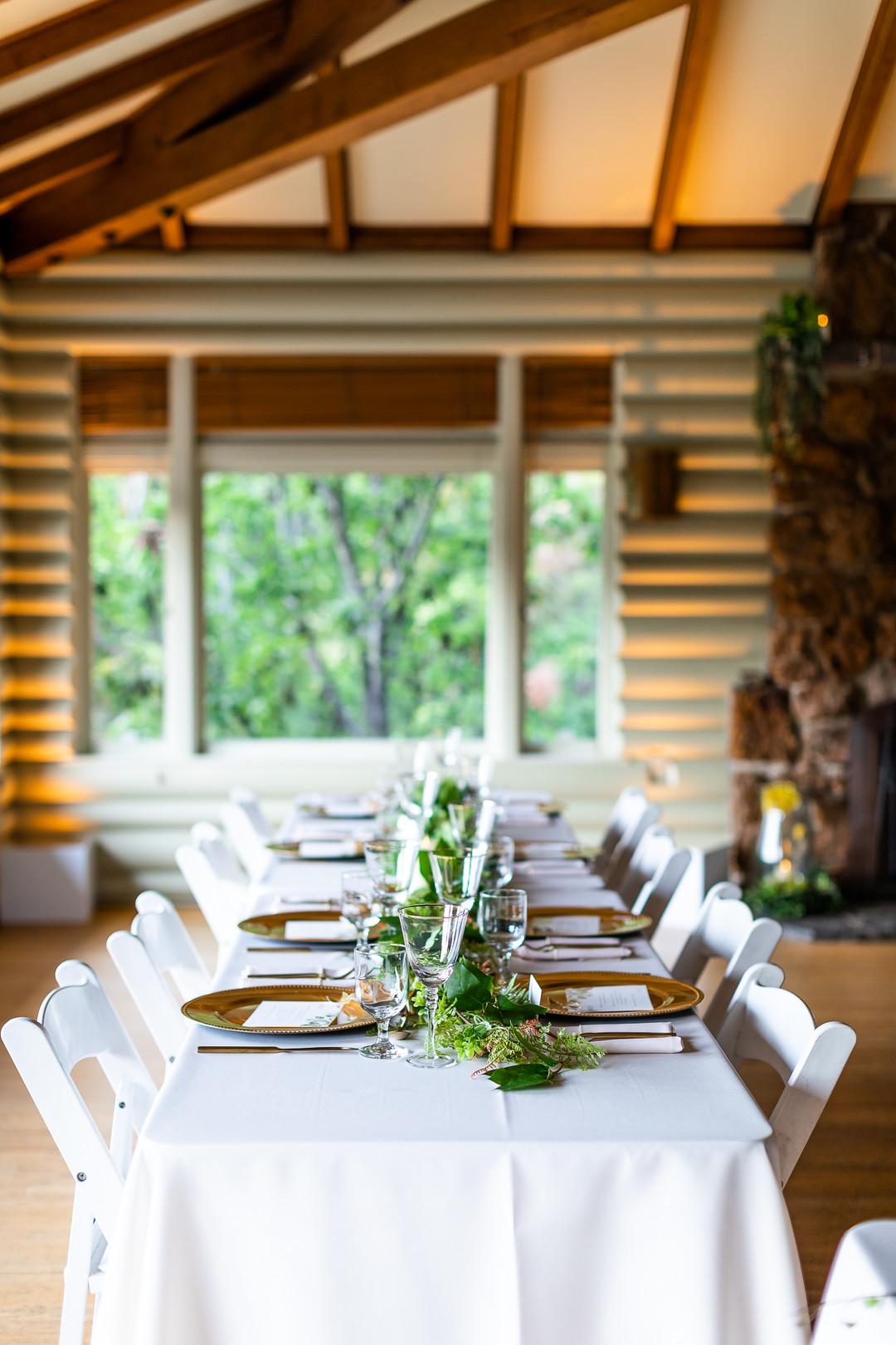 Simple wedding reception design