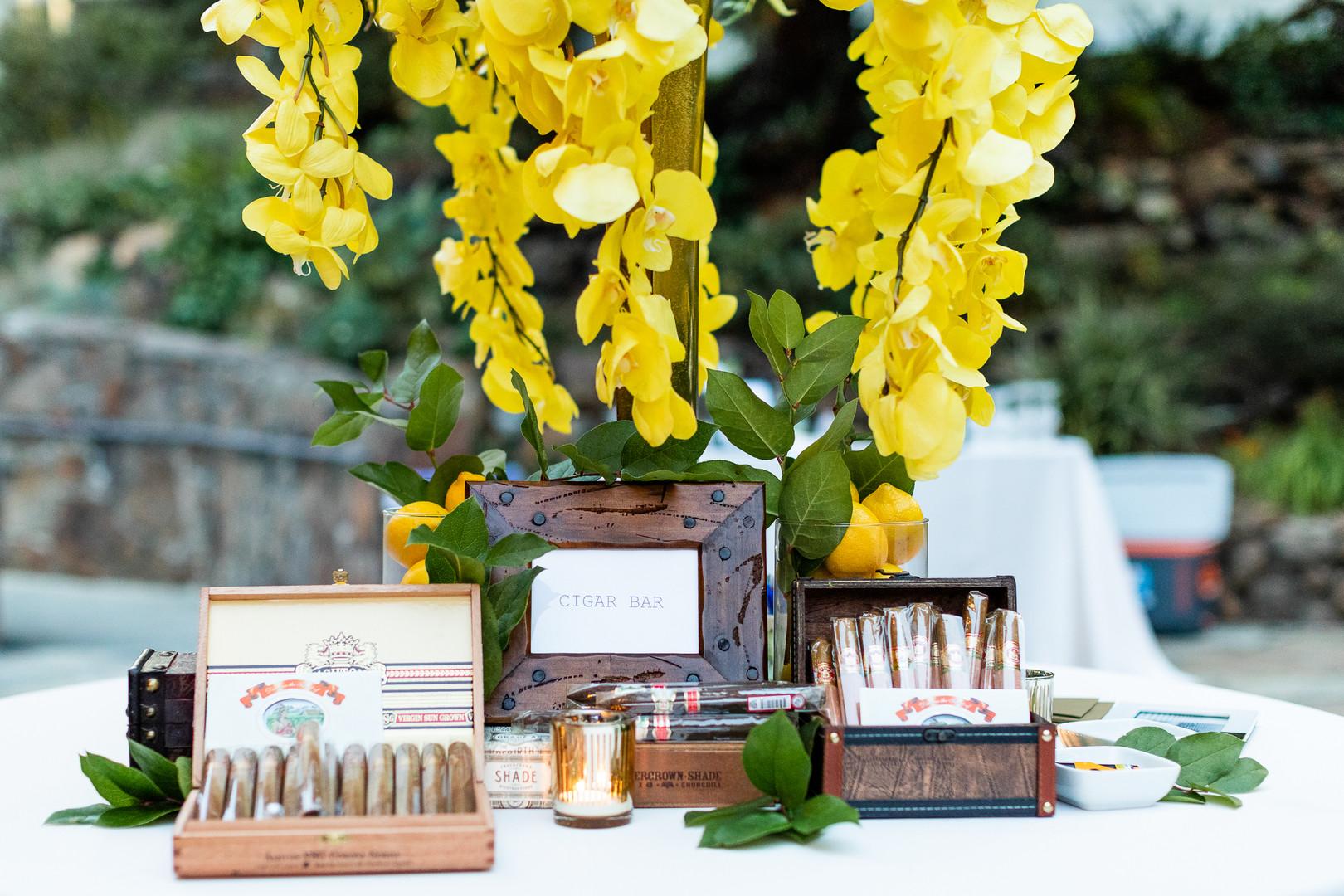 Wedding Reception Cigar Bar