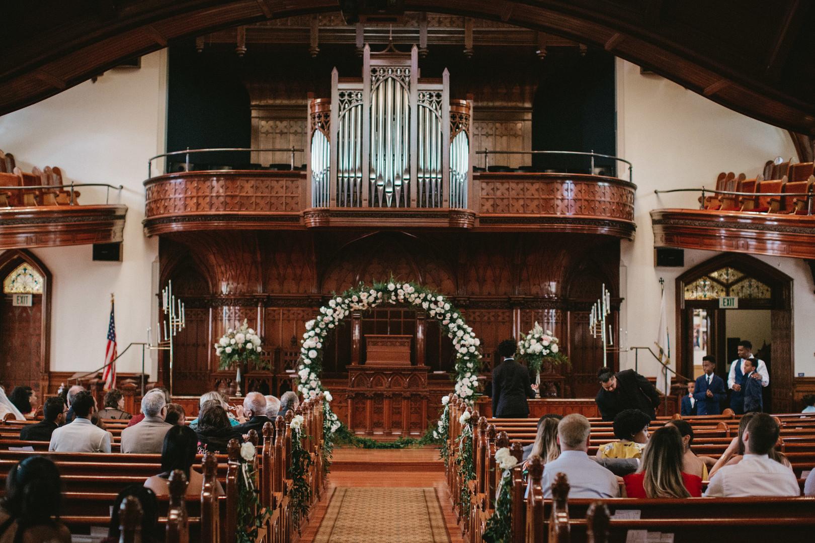 wedding ceremony design in church