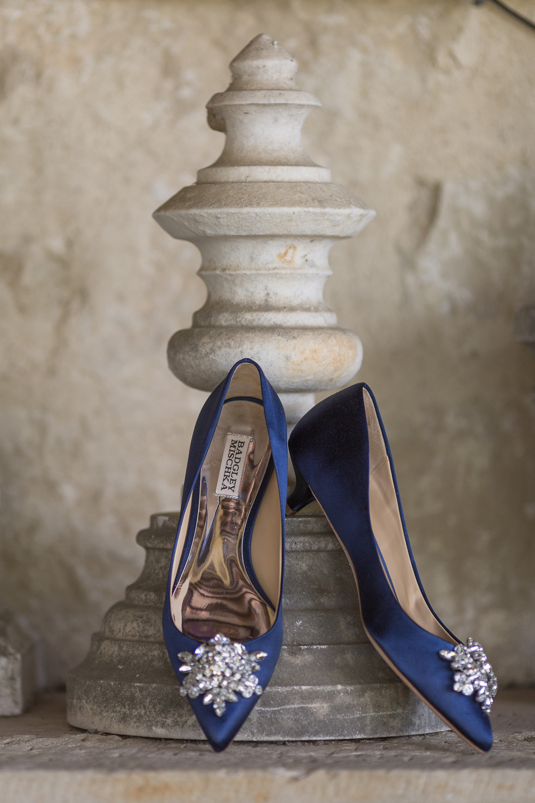 blue badgley mischka wedding shoes