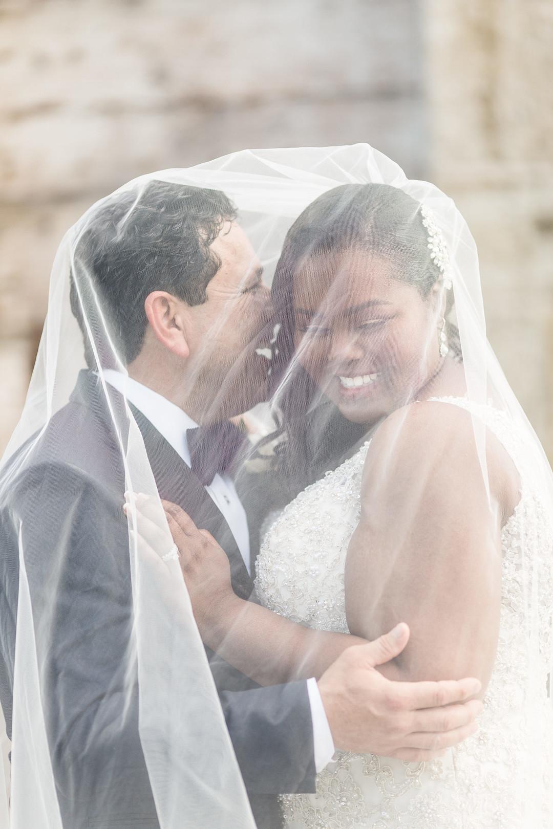 couple under veil