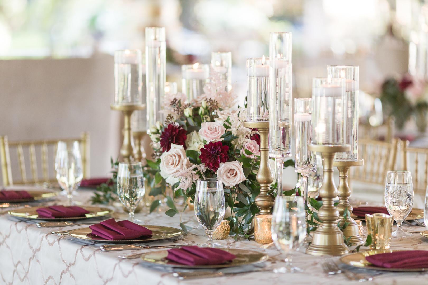 table design at wedding reception