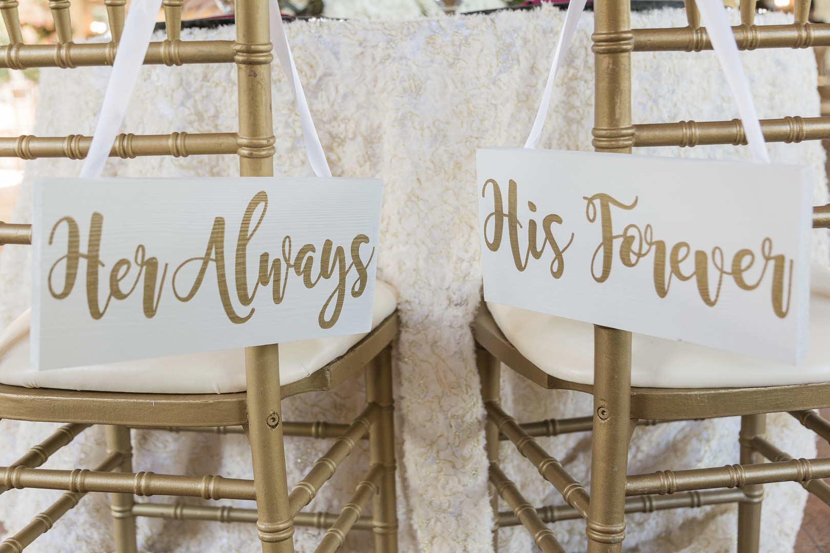 her always his forever bride and groom chairs