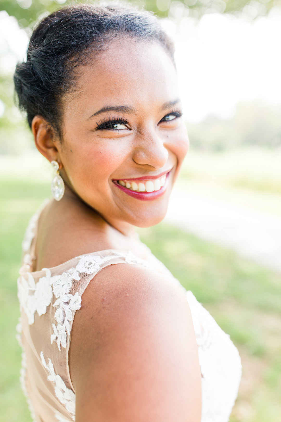 bride with beautiful smile