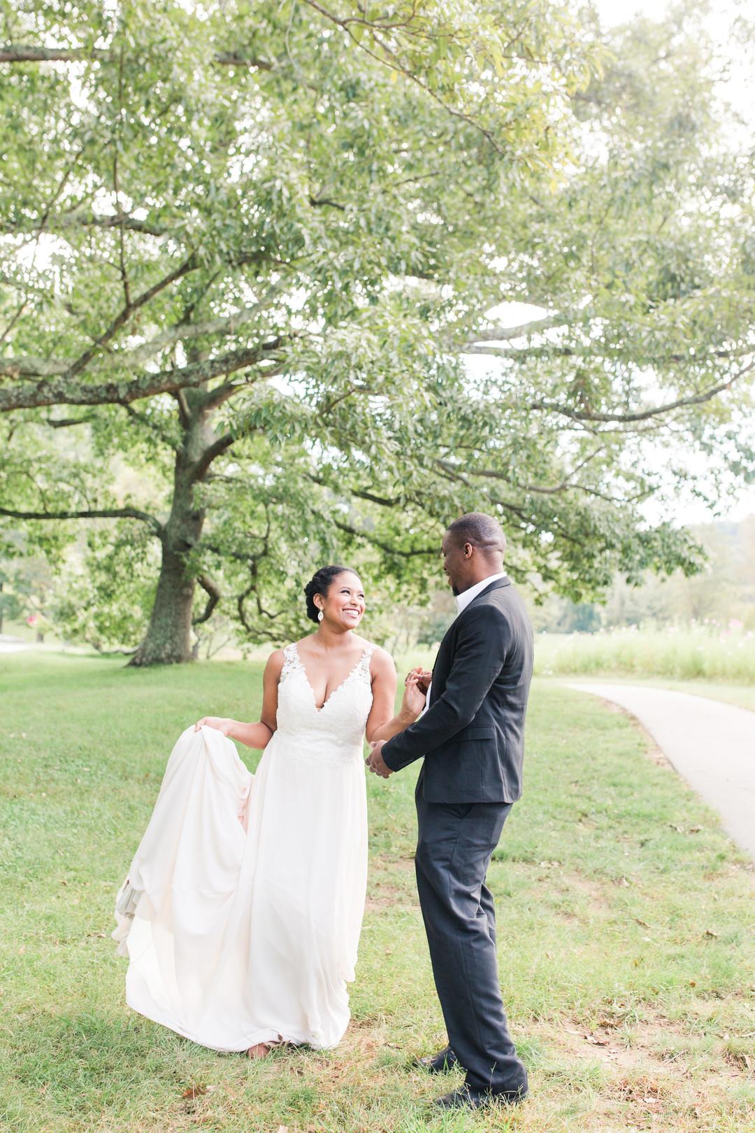 african american bride and groom
