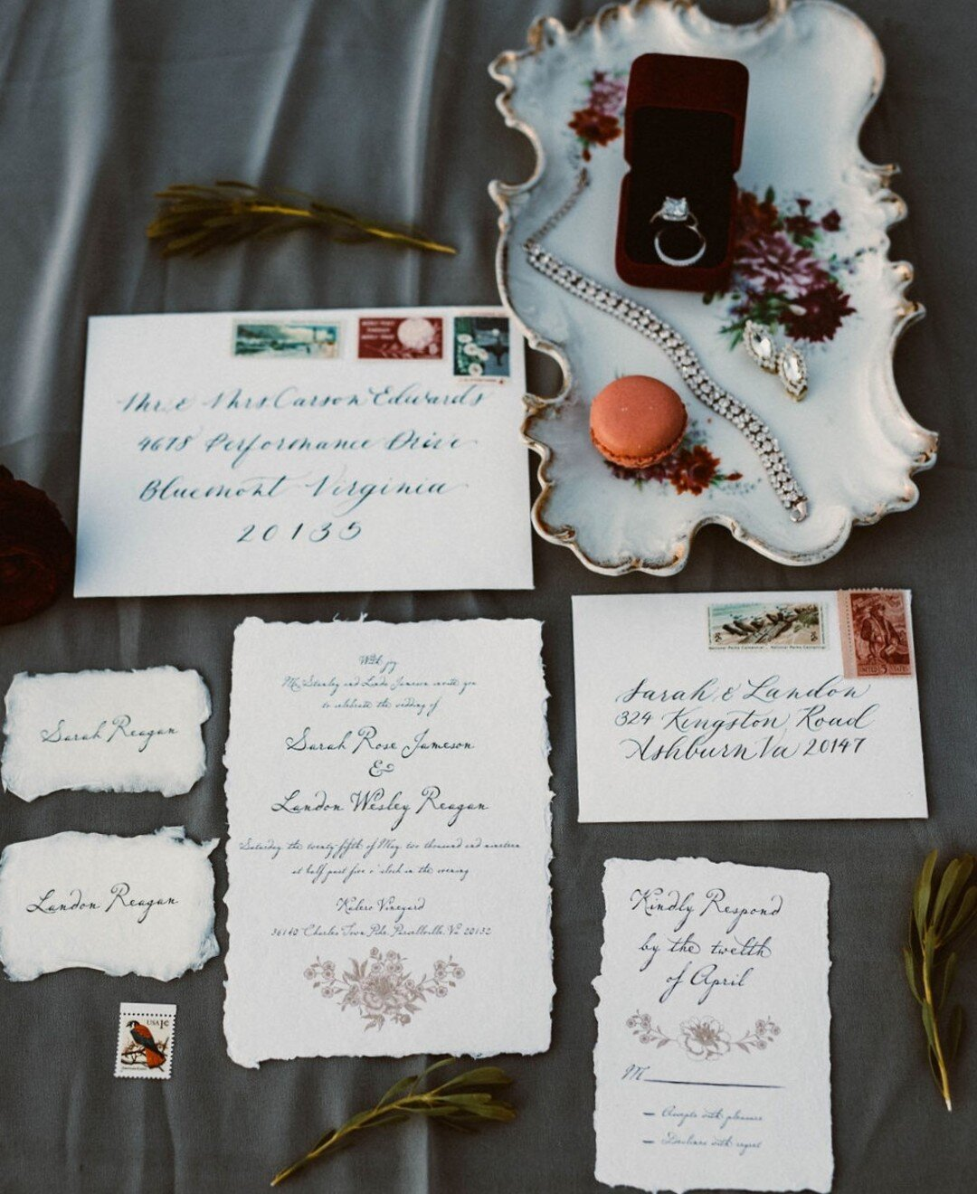 antique details and calligraphy