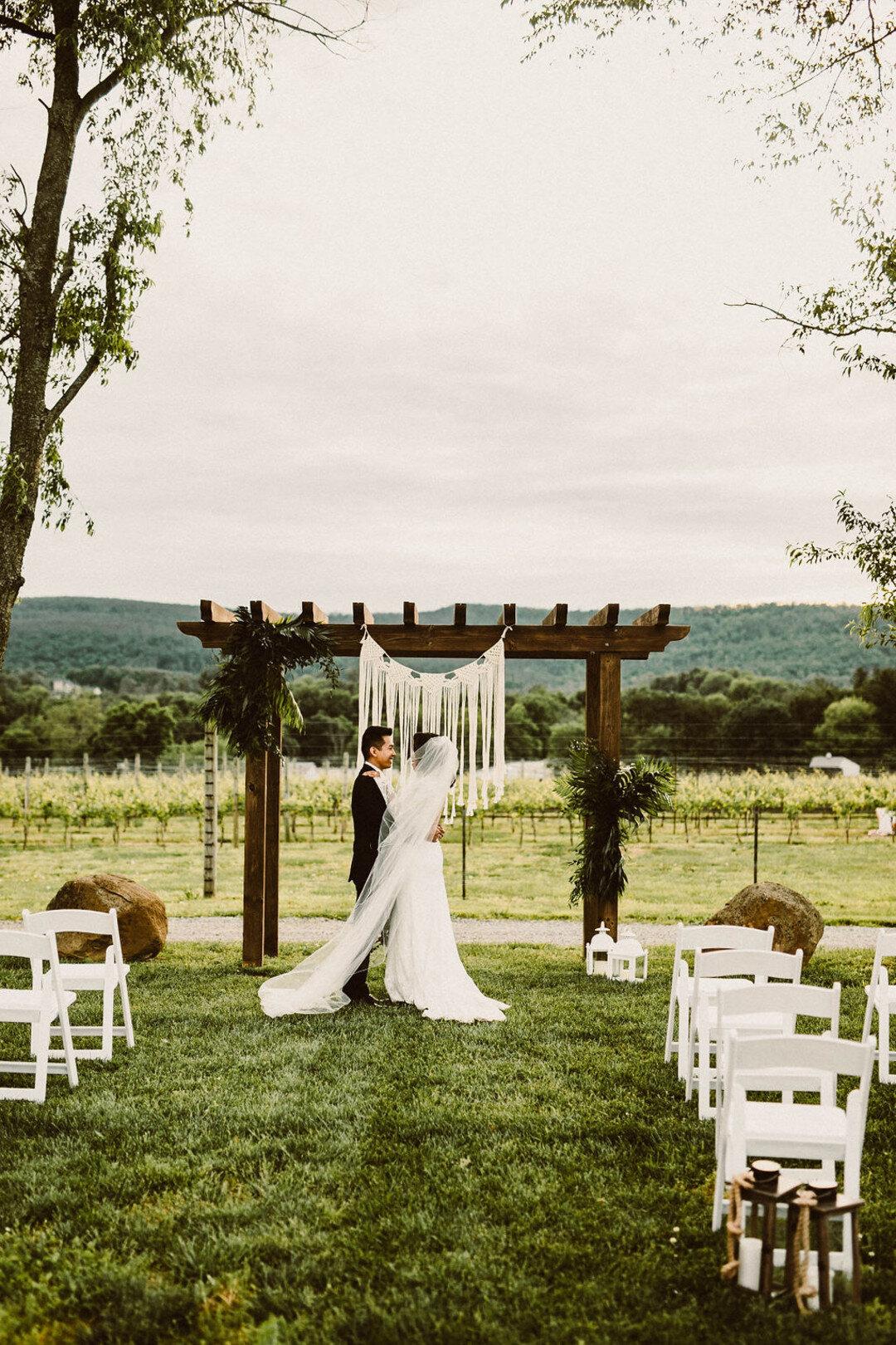 Outdoor vineyard wedding design