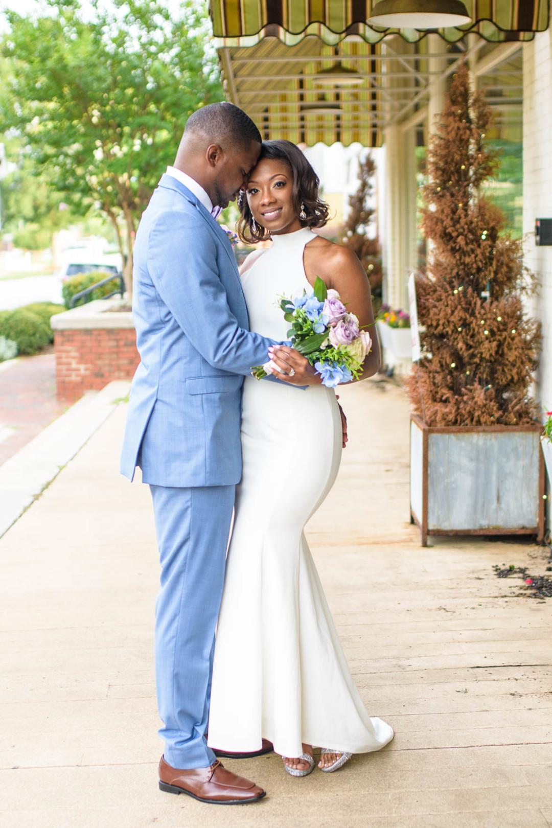 Curve enhancing bridal gown