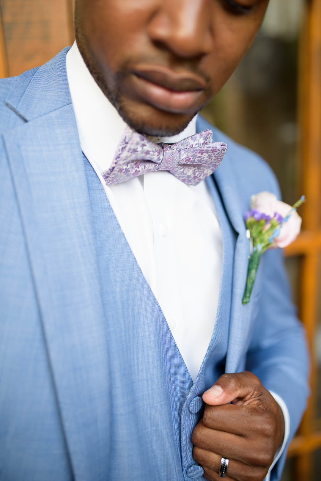 black groom portrait