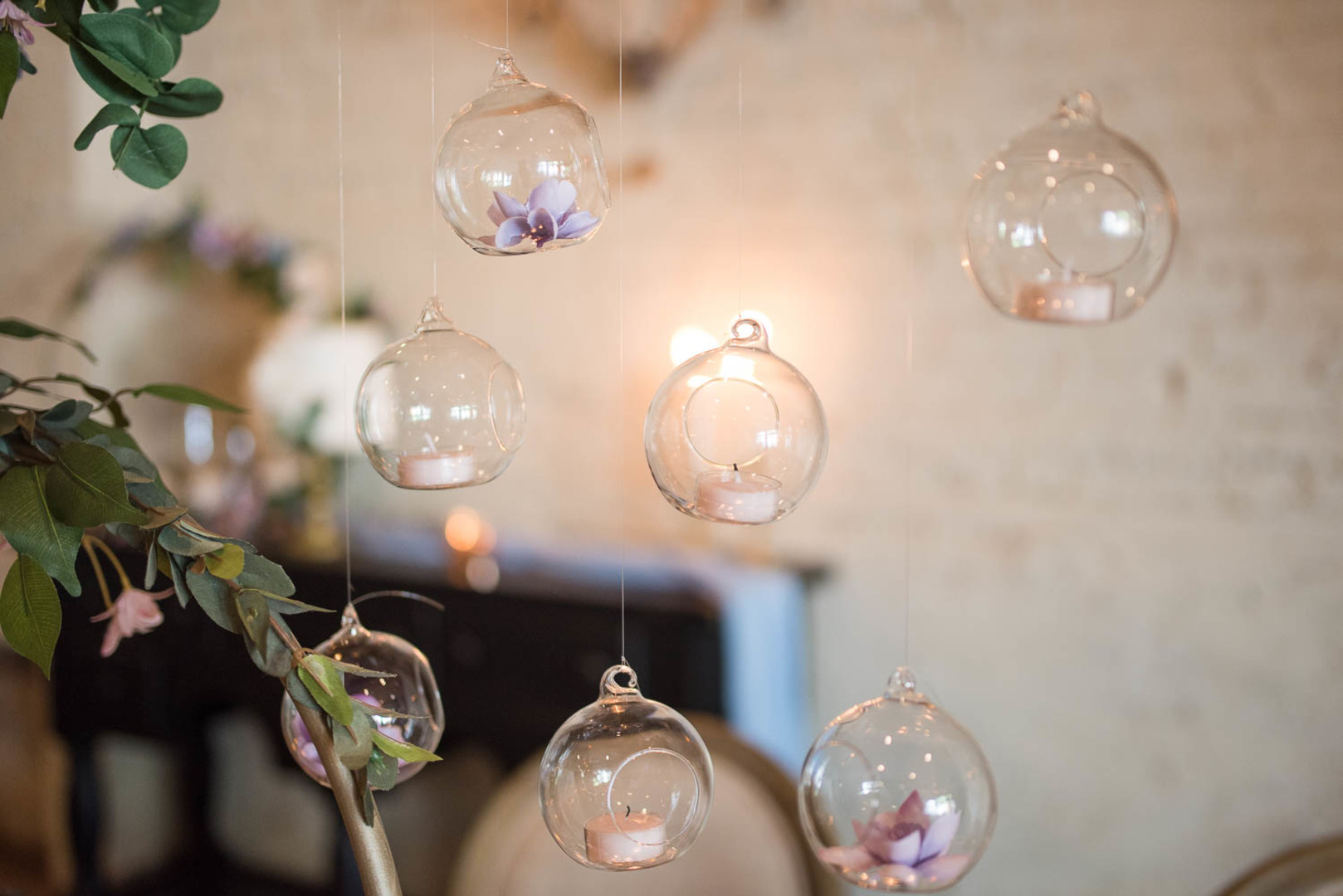 hanging candle bulbs