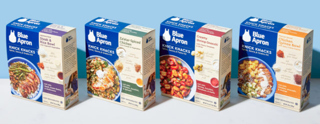 "The Meal Kit Insight - Struggling Blue Apron has revamped their strategy with the launch of a new line of meal kits on Walmart's Jet.com. The new offerings, called Knick-Knacks, cost $7.99 each, a huge saving compared to their normal kits available on Jet.com which come in at $16.99-$22.99. They achieve this pricing miracle by having the consumer supply the produce and the protein.Michael Angelo's, newly acquired by Advent International/Sovos Brands, has launched Meal Starters, a line of frozen proteins (chicken and shrimp) with an accompanying sauce. Consumers simply heat the dish, prep a starch or vegetable, and serve. Flavors include: Chicken Parmigiana, Chicken Piccata, Chicken Bruschetta, Spicy Chicken Marinara, White Wine Lemon Chicken and Spicy Marinara Shrimp.So What? A lifetime ago, I wrote a cookbook. While creating the recipes and writing the copy was fun, the most memorable experience was doing the media circuit. I was booked on local affiliate morning talk shows and national broadcasts as part of a whirlwind tour. At every stop I'd have ~5-7 minutes to talk about and showcase some recipes from the book, the host would then gush at how wonderful and easy everything was, and then we'd be off to commercial. At one of my first stops, a seasoned food stylist schooled me on the best game plan. ""Don't waste time chopping anything,"" he said,"" that's the least exciting part of cooking. People want to see it all coming together, garnished and ready to eat. Don't ever let cooking look like drudgery—it should be quick and painless assembly.""That experience made me realize that food media has significantly warped consumers perspectives and expectations when it comes to getting a meal on the table. Every cooking show exposes viewers to amazingly complex cuisines, but the chicken is usually pre-cut, the veggies pre-chopped and the dish is already plated. Raised on a steady diet of Food Network and restaurant meals, today's consumers have developed 'champagne wishes and caviar dreams,' but have instant ramen skills and Pop Tart patience.This is the insight that Blue Apron continually misses. They conflate knowledge of a dish such as 'Beef over Za'atar-Spiced Rice with Lemon Labneh' with the skill set, time and will to prepare it. Their latest move, while financially logical, takes them in the wrong direction. At least with the $22 meal kits, the produce and protein came semi-prepped (although likely not enough). Now, sourcing, cleaning and cutting these items is pushed onto the consumer—raising the hurdle even higher to get a meal on the table.As that food stylist taught me, consumers want to quickly get to the exciting bits of cooking and skip the tedium. In other words, a little sizzle, a little drizzle and poof! restaurant payoff. Do you know who really gets this insight? Trader Joe's. At TJ's, the same target consumer as Blue Apron can enjoy Capunti Pasta with Butternut Squash Alfredo Sauce and Grilled Chicken Strips in about 15 minutes—no knife or skillet required. All the labor in TJ's food is shifted to the back end of meal prep, most of their meat is cooked (or sliced, marinaded and ready to cook), most fancy sauces are easy to heat, and all that's left is effortless accompaniments and flair. The 'freshness' component that Blue Apron tries to obtain through having consumers cut up meat and veg is conveyed at TJs through their marketing. From clean ingredient decks and ad copy (""Made with pumpkin and butternut squash purées (together, they make up 40% of the recipe), we're not messing around when it comes to fall flavor in this orange-hued Alfredo""), TJ's lets consumers feel good about outsourcing the drudgery.Perhaps that is why the frozen section of supermarkets are making a comeback. With the help of Trader Joe's (who makes the least favorite aisle in the grocery store the most exciting one—I think it's the candy!) and manufacturer innovation, frozen foods are starting to be seen as an acceptable way to get to the payoff faster without feeling guilty."