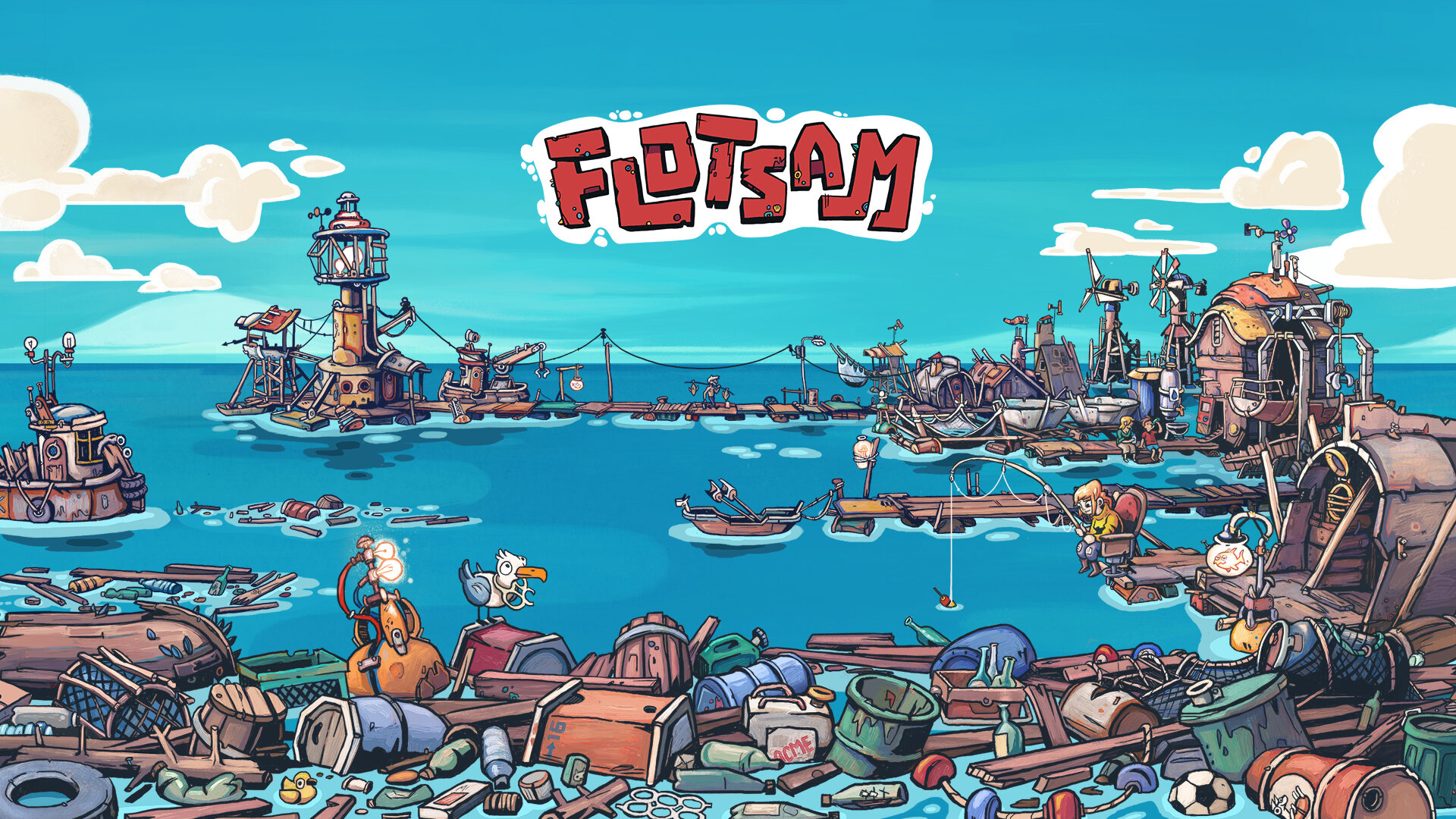 Flotsam - Pajama Llama Games ecological warning in game form!