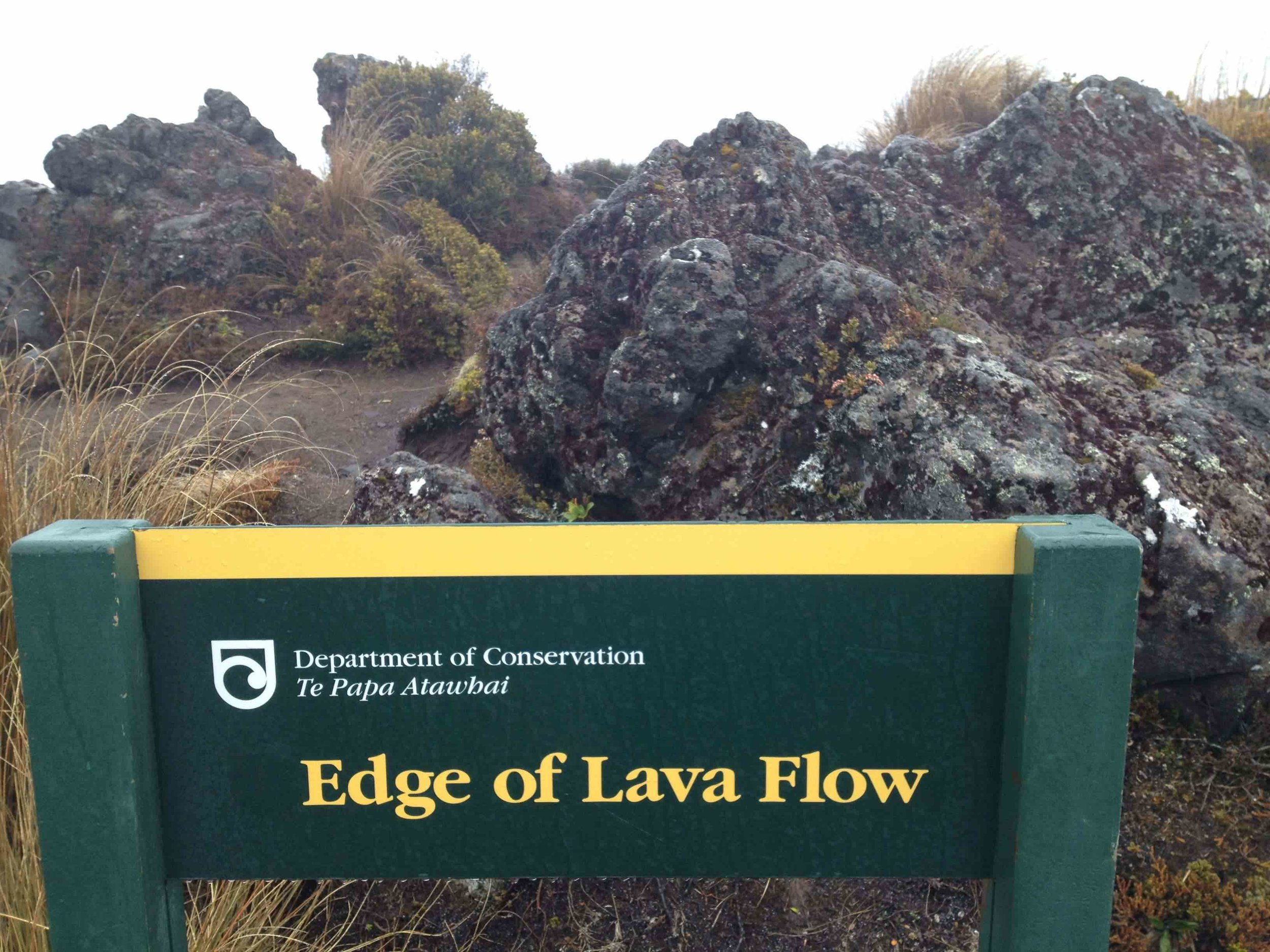 Lava flow from Mount Ruapehu, New Zealand